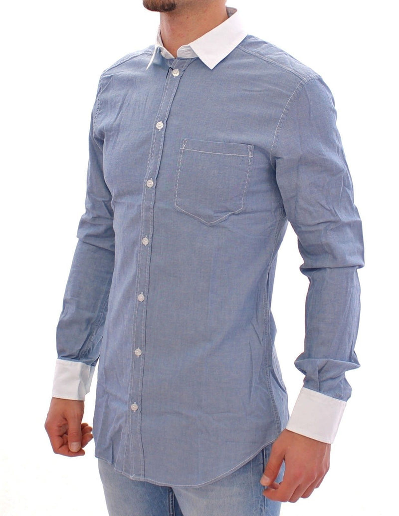 Blue Denim Slim Fit BRAD Casual Shirt