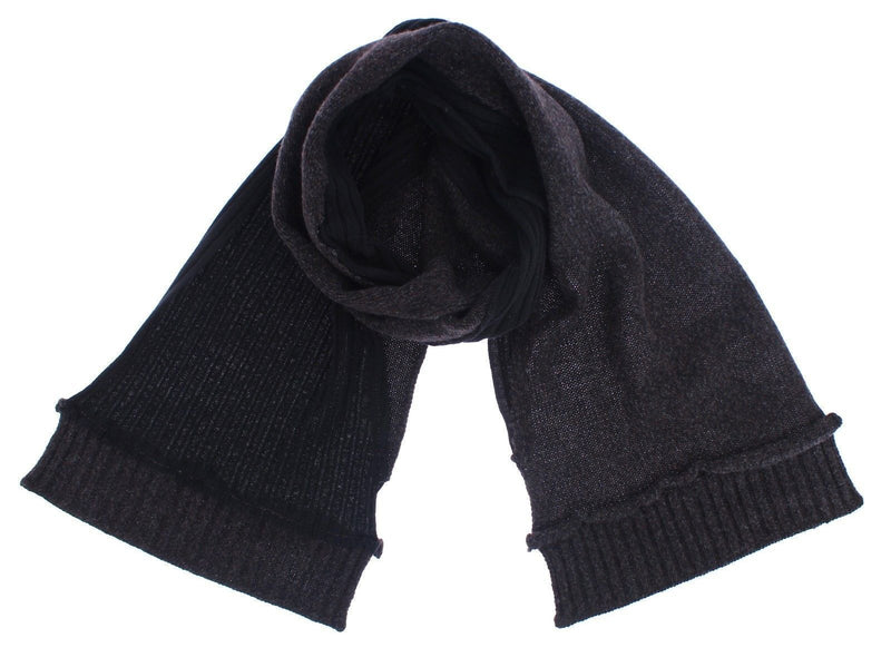 Scarf Men's Gray Wool Knitted Wrap