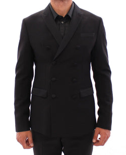 Black Slim Fit Wool Smoking Tuxedo Suit