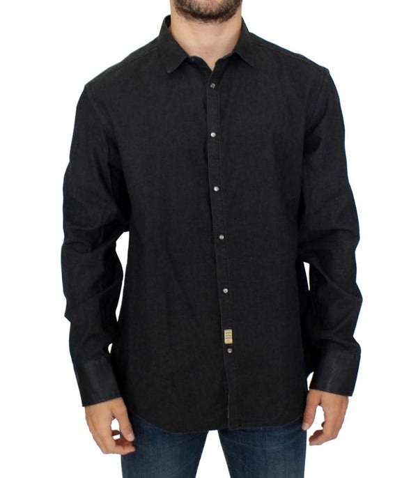 Dark gray cotton shirt