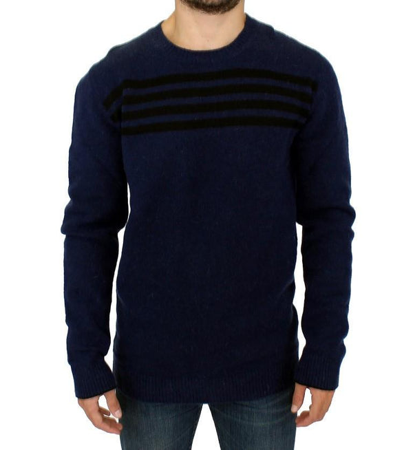 Blue striped sweater pullover