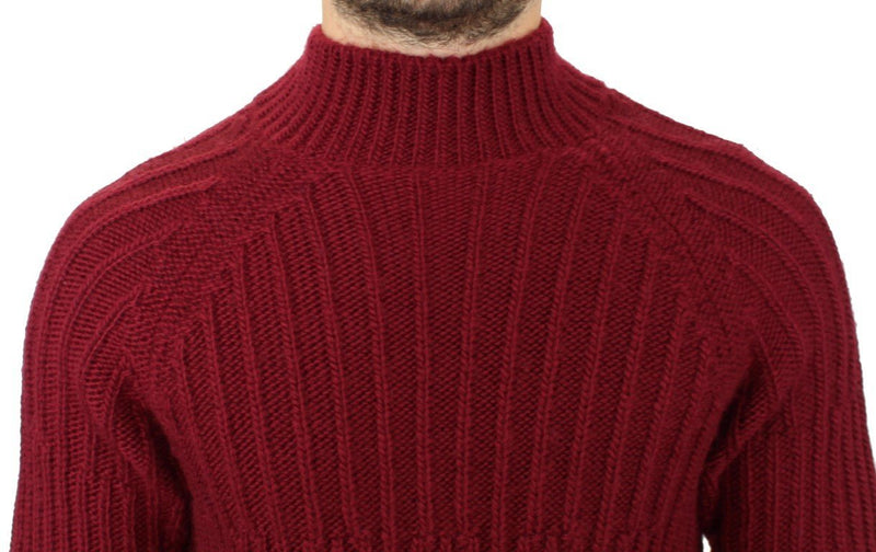 Bordeaux wool knitted sweater