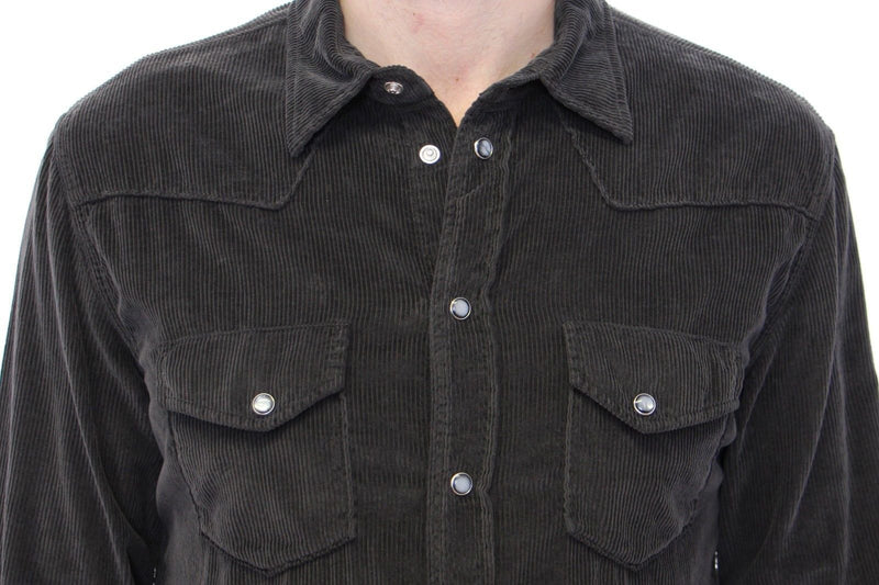 Exclusive Black Manchester Sicilia Casual Shirt