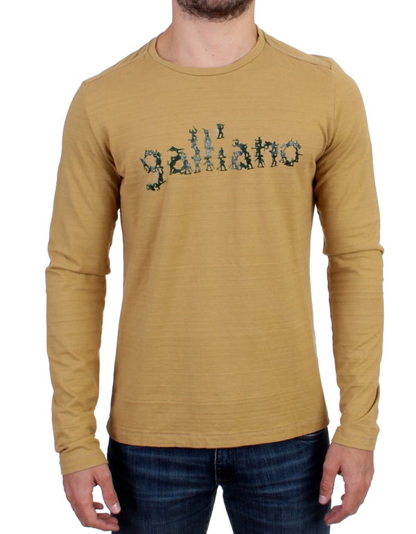 Yellow crewneck long sleeve t-shirt