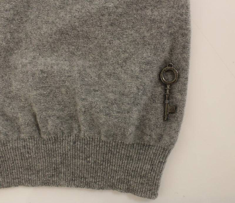 Gray wool turtleneck sweater