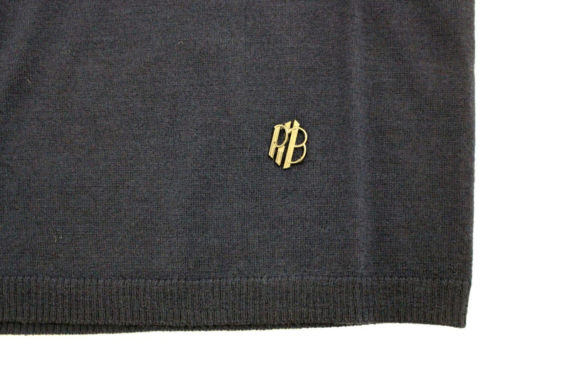 Blue wool crewneck sweater