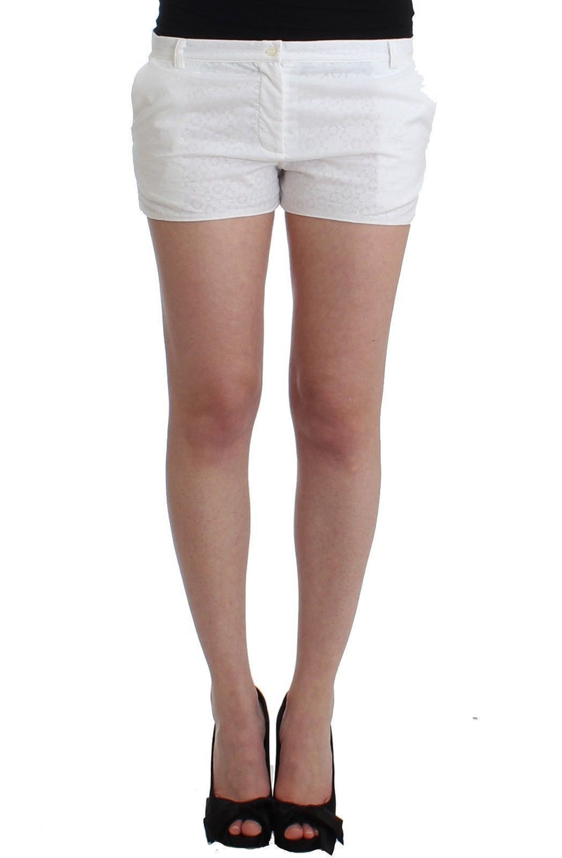 Beachwear White Silk Mini Shorts Hotpants