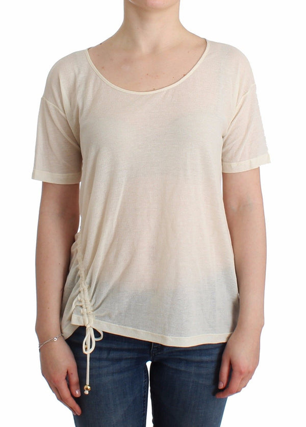 Beachwear White T-Shirt Top Blouse
