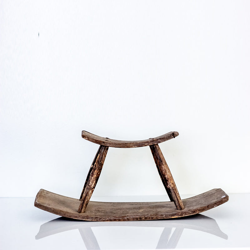 "Vintage ""See-Saw"" Rice Paddy Stool YX0517049-SEATING-Wu & McHugh"