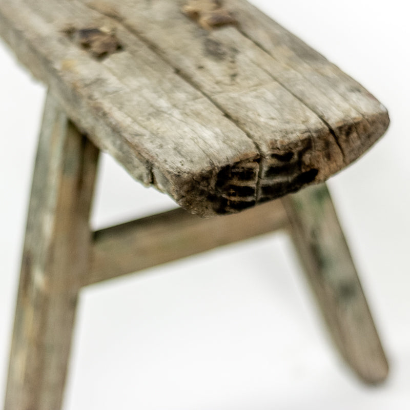 Rustic Vintage Low Bench ADLVB09203601
