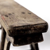 Rustic Antique Scholars Bench With Simple Spandrels 07