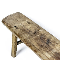Vintage Long and Low Three Person Bench ADBLVB09201001