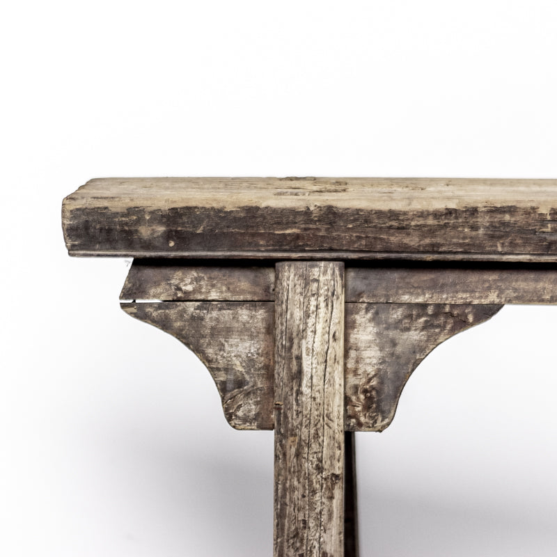 Rustic Antique Scholars Bench With Simple Spandrels 12