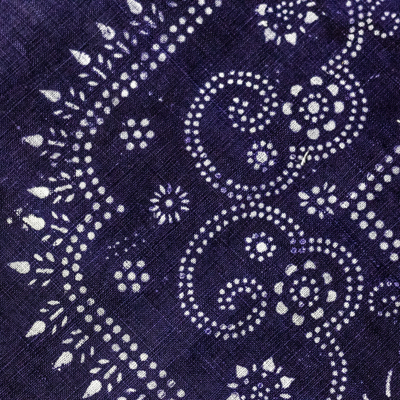 Vintage Indigo Cotton Fabric 12