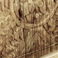 Vintage Pair Of Hand Carved Decorative Panels from Canopy Bed ADVSC09202013