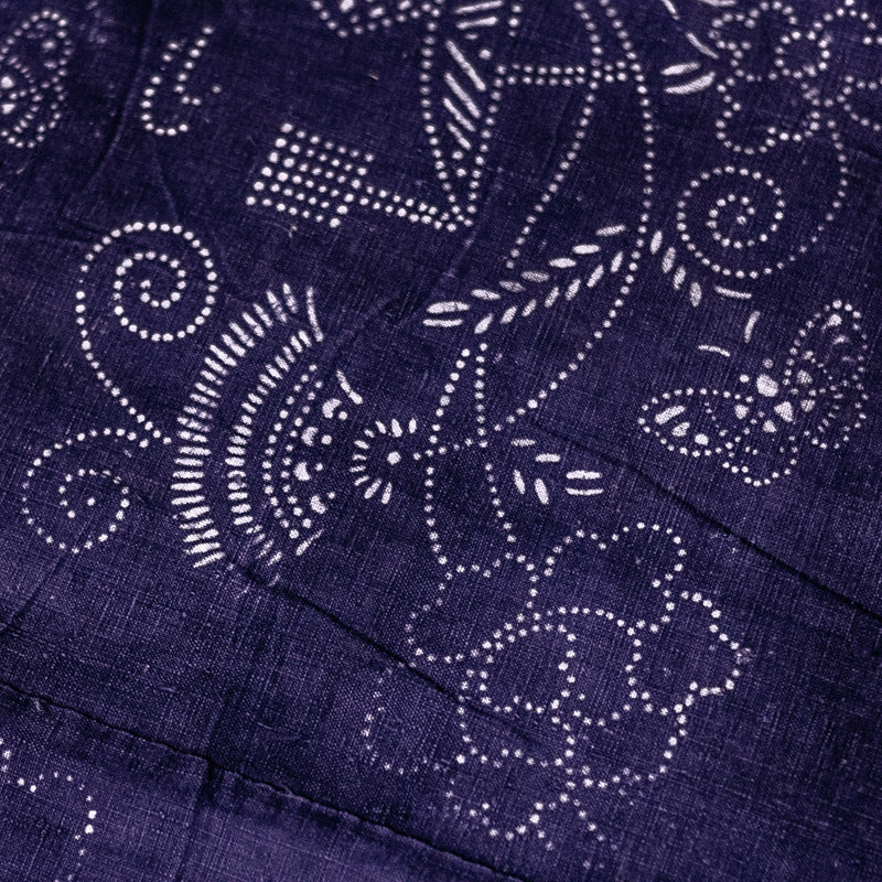Vintage Indigo Cotton Fabric 13