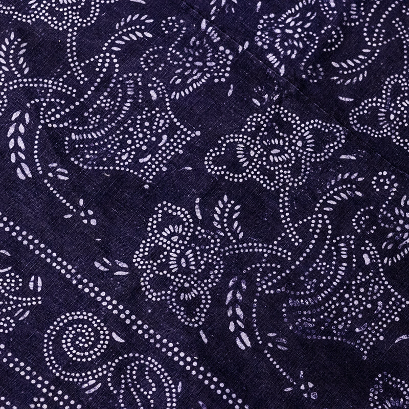 Vintage Indigo Cotton Fabric 15