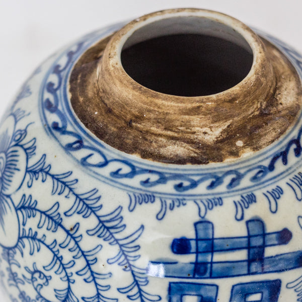Ceramic Blue and White Decorative Round Loose Leaf Tea Container TB0517134DB-TABLE DÉCOR-Wu & McHugh