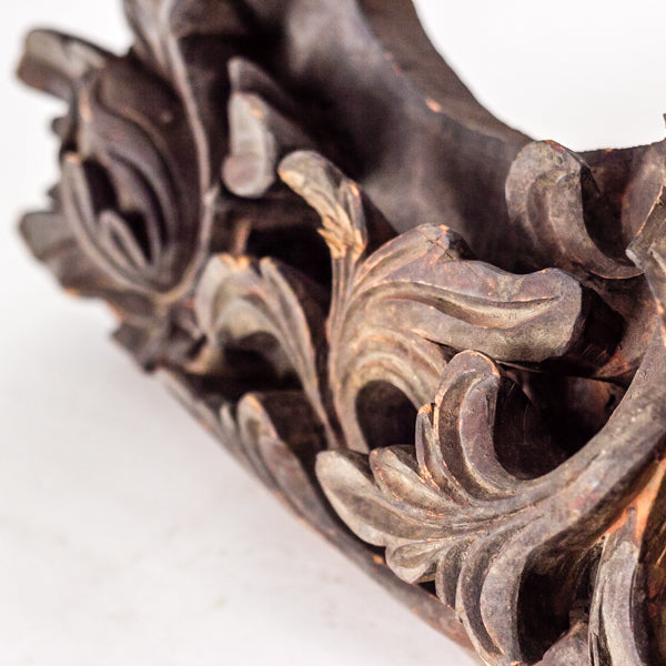 Antique Hand Carved Wooden Decorative Architectural Element YX1116062BA-ARCHITECTURAL ELEMENTS-Wu & McHugh