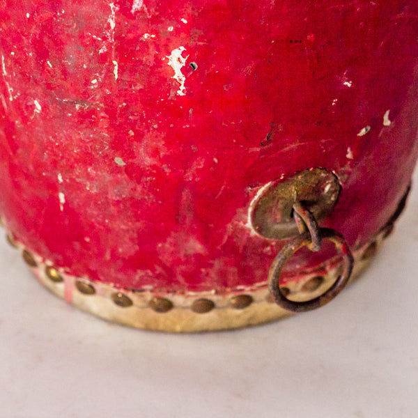 Vintage Small Red Drum YX051703-TABLE DÉCOR-Wu & McHugh