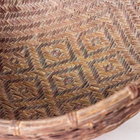 Vintage Handmade Basket with Unique Pattern YX1116004CA-BUCKETS & BASKETS-Wu & McHugh