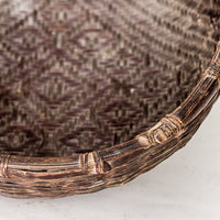 Vintage Handmade Basket with Unique Decorative Pattern YX1116004CC-BUCKETS & BASKETS-Wu & McHugh