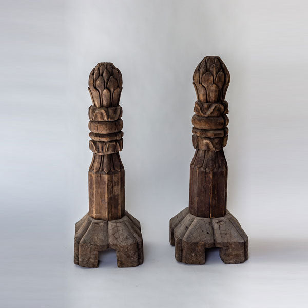Antique Hand Carved Wooden Decorative Architectural Element AD0517095-ARCHITECTURAL ELEMENTS-Wu & McHugh