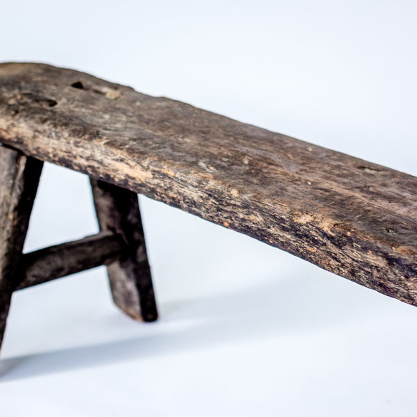 Vintage Rustic Village Low Bench SQ0517026GG-SEATING-Wu & McHugh