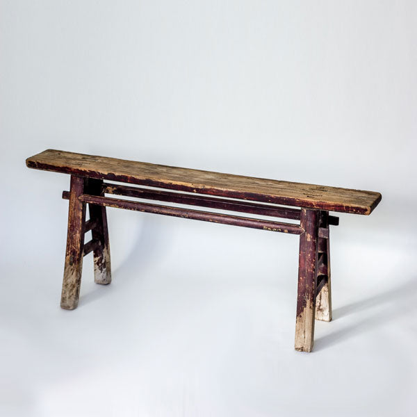 Vintage Scholars Bench With Worn Patina YX0517034FC