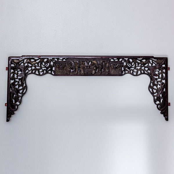 Antique Set of Small Decorative Canopy Bed Panels AD0716046BB-WALL DÉCOR-Wu & McHugh