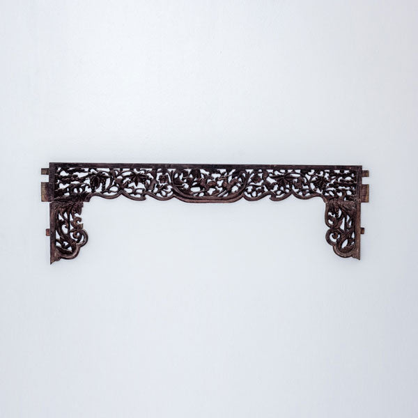 Antique Set of Small Decorative Canopy Bed Panels YX0517046DC-WALL DÉCOR-Wu & McHugh