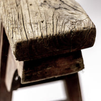 Rustic Antique Scholars Bench With Simple Spandrels 45