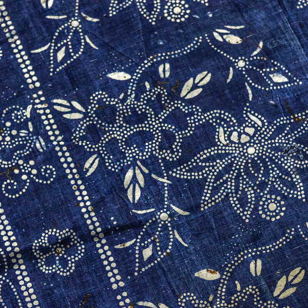 Vintage Indigo Cotton Fabric 04