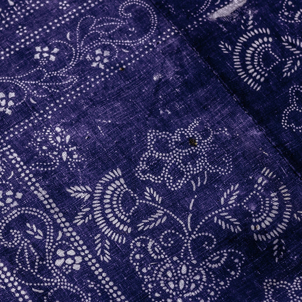Vintage Indigo Cotton Fabric 05