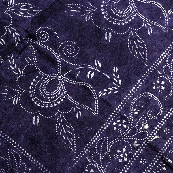 Vintage Indigo Cotton Fabric 06