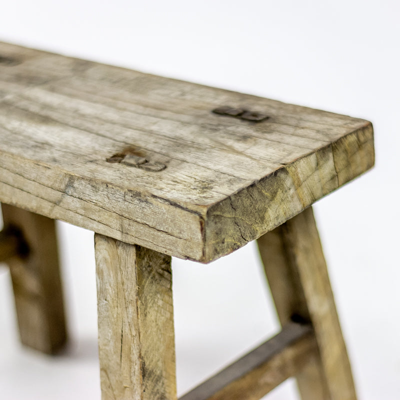 Vintage Small Elm Workers Stool 85