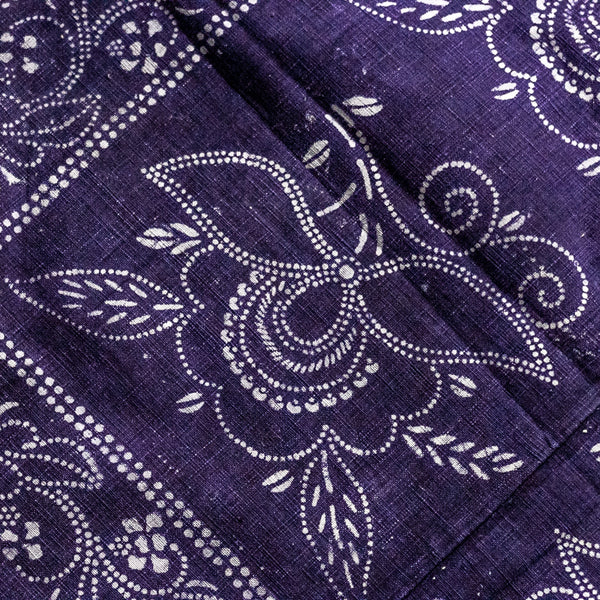 Vintage Indigo Cotton Fabric 08