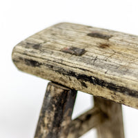 Vintage Small Elm Workers Stool 94