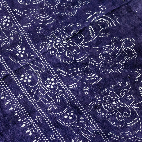 Vintage Indigo Cotton Fabric 09
