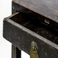 Antique One Drawer Small Square Table / Cabinet YX0118041