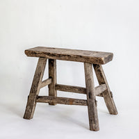 Vintage Small Elm Workers Stool SC3-SEATING-Wu & McHugh