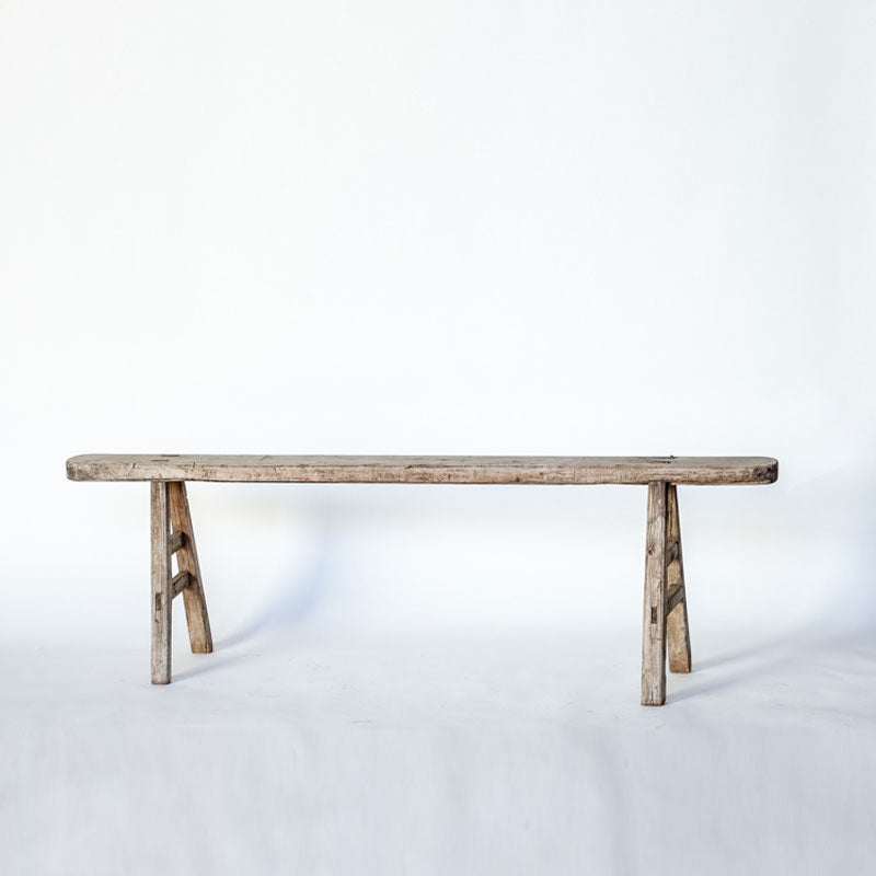 Rustic Vintage Scholars Long Bench YX0118051-SEATING-Wu & McHugh