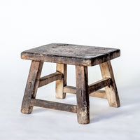 Vintage Large Square Stool YX0018051-SEATING-Wu & McHugh