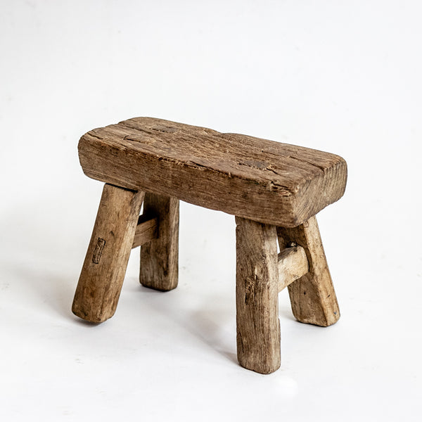 Vintage Small Elm Workers Stool SH8-SEATING-Wu & McHugh