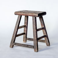 Vintage Rectangle Village Stool YX0018037ZG-SEATING-Wu & McHugh
