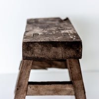 Vintage Small Elm Workers Stool PP16-SEATING-Wu & McHugh