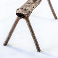 Vintage Natural Tree Stool YX0018050DC-SEATING-Wu & McHugh
