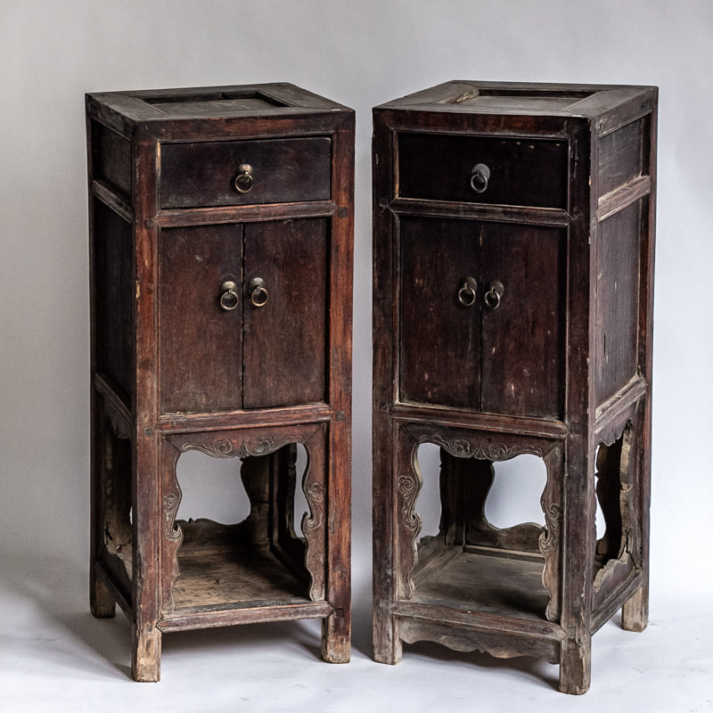 Antique One Drawer And Double Door Side Table Yx0018098 Wu Mchugh