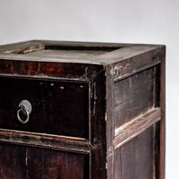 Antique one-drawer and double-door side table YX0018098-CABINETS & STORAGE-Wu & McHugh