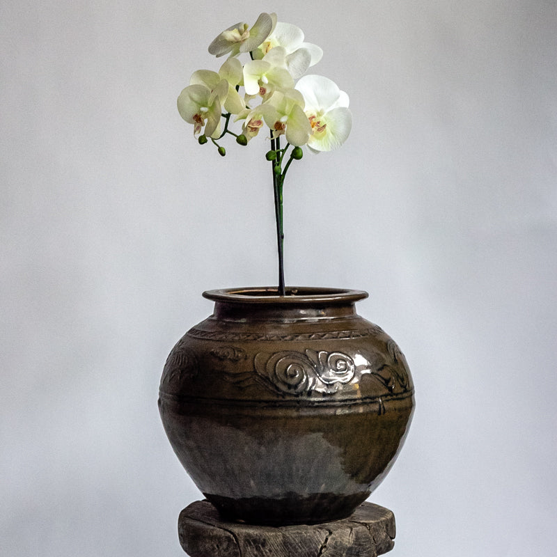 Vintage Handmade Heavy Vase YX0018082-02-TABLE DÉCOR-Wu & McHugh
